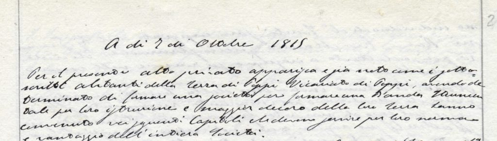 Il documento storico della Banda di Popi