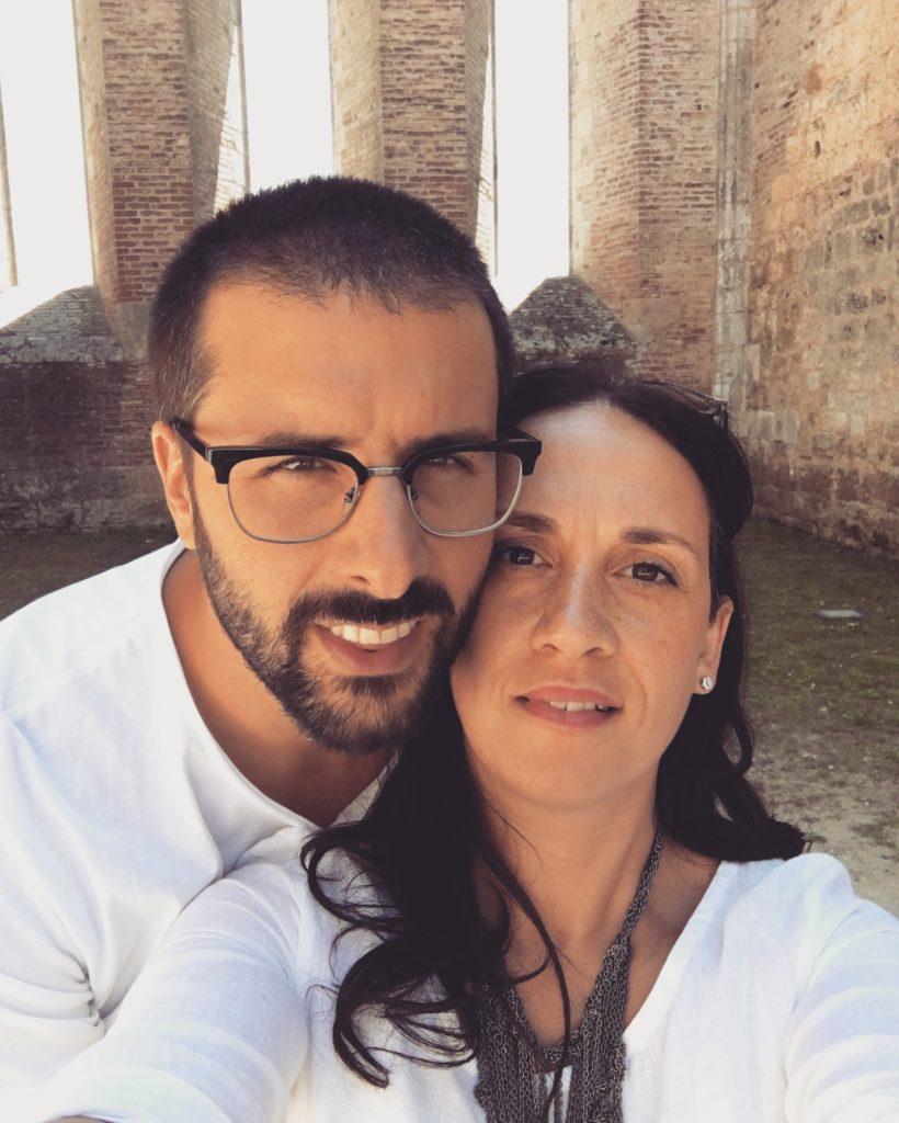 Monica con il marito Federico